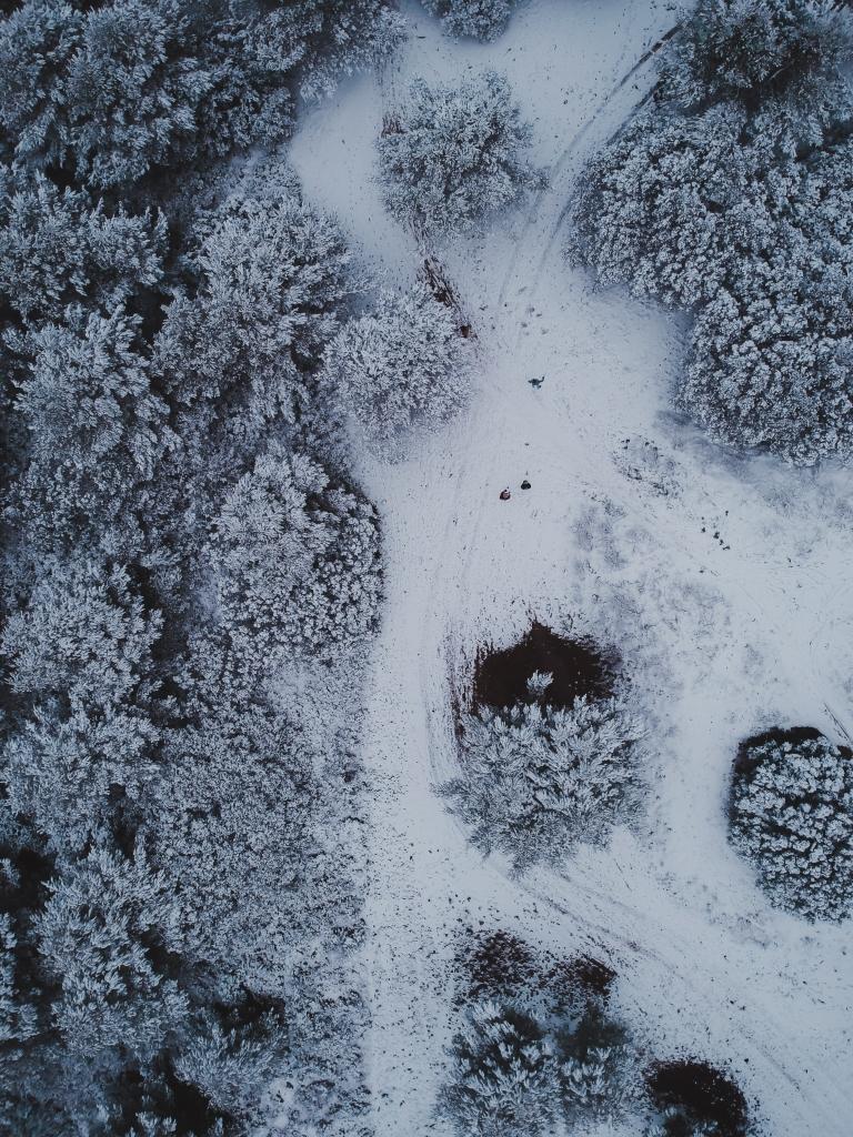 Vue du ciel neige